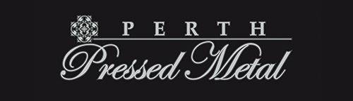 Perth Pressed Metal Logo